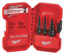 "HSS Step Drill Bit Set 1/8-7/8"", 3 pcs MILWAUKEE 48-89-9221"