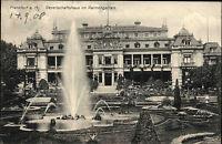 Frankfurt am Main Hessen s/w AK 1908 gelaufen Gesellschaftshaus im Palmengarten