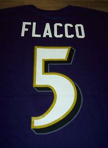 BALTIMORE RAVENS #5 JOE FLACCO NFL FOOTBALL T-Shirt LARGE NEW w/ TAG