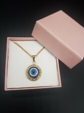 BLUE EVIL EYE HAMSA NECKLACE/ HAMSA AZUL DEL MAL DE OJO