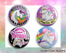 Unicorn Badges Buttons Pinback Pins Brooch Accessories My Little Pony 4 Set 32mm