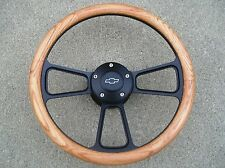 1966 Chevy Chevelle, El Camino Real Oak & Billet Steering Wheel, Horn Kit