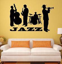Wall Sticker Jazz Band Music Blues Music Lover Art Mural Vinyl Decal (ig1203)