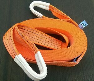 NEW HEAVY DUTY TOW ROPE 10M 4X4 RECOVERY WINCH TOWING STRAP TREE STROP 5 TON UK
