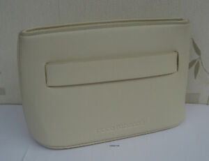 Paco Rabanne Cream  Faux Leather Make Up /Clutch Pouch - New