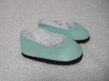 "Fits 18"" Magic Attic Doll - Seafoam Plain Slip-On Shoes -D1407"