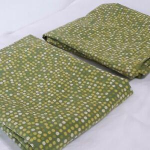 Pair IKEA Smorboll Standard Size 20x30 Pillowcases Green Dots Cotton