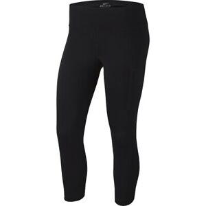 Womens nike power pocket hyper leggings mid rise crop length AA1225-010