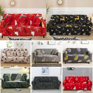 1/2/3/4 Seater Elastic Elk Sofa Covers Slipcover Settee Stretch Couch Protector