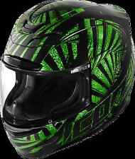 ICON AIRMADA MOTORCYCLE HELMET AM SPAZTYK GREEN SM SMALL FREE SHIPPING 0101-7125