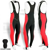 Mens Cycling Bib Tights Coolmax Padded MTB Lycra Road Bike Long Pants Leggings