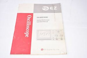 EZ Digital Co OS-5030/5030C Analog Oscilloscope Operation Manual