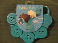 Quirky Pivot Power POP Junior - Flexible Power Strip -  PPVJP-TL01 - Teal - New
