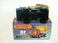 Matchbox Superfast No 37 Skip Truck Blue  - BLACK BASE NMIB - RARE