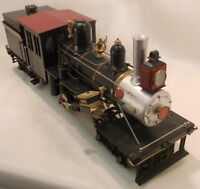 "G 1:24.3 BRASS ASTER GEARED LOGGING THREE TRUCK CLASS ""C"" CLIMAX LOCO-ELECTRIC"