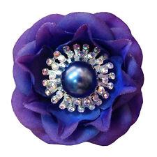 1 Grande Fleur Épingle Cheveux Pic Chignon Mariage Mariée BLEU VIOLET