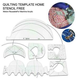 6Pcs/set Quilting Template Home Stencil Free Motion FAST Acrylic NEW X0T2