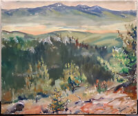Original 1935 Carl Tolpo Four Mile Canyon Oil Painting Boulder Colorado Rockies