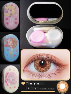 Korean Colored Contact Lens Travel Case Kit Winni Rita Brown