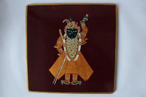 pichwai plate of shreenath ji darshan textile uses fabric printing plate wall