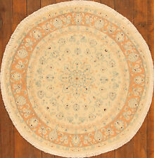 Vero Tappeto Orientale Annodato A Mano persiano Nr.4036 (145 x 145)cm Tondo