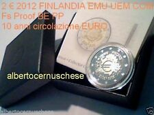 2 euro 2012 Fs proof BE PP FINLANDIA Finlande Finland 10 anni years ans EMU UEM