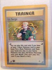 Lt. Surge Trainer Holo Rare Pokemon Card 17/132 1st Edition