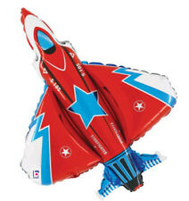 """Jet Fighter 34"""" XL Foil Mylar Birthday Party USA Military Balloon Decorations"""