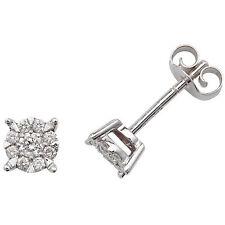 Pendientes Con Diamante Tacha Oro Blanco 5mm Tasación Certificado