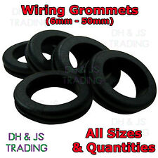 Wiring Grommets Rubber Gromets Open Grommet Cable Wiring Loom - All Sizes