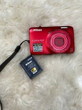 Nikon COOLPIX S6300 16.0MP Digital Camera - Red (missing charger cable)
