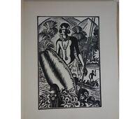 CHADOURNE Le Maître du navire. Bois originaux de FALKE 1925 Ed. G. Crès NUM RARE