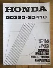 Genuine Honda GD320 GD410 shop workshop repair service manual *SUPPLEMENT ONLY*