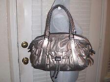 Burberry Bronze Metallic Leather Curzon Satchel Bag- Handbag