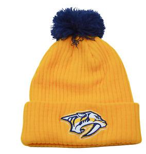 Nashville Predators NHL Keystone Ribbed Knit Beanie Pom Winter Hat by Fanatics