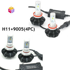 L/4000LM,H/4000LM 9005 H11 Combo LED Headlight Bulbs Kit Hi-Lo Beam Light 6000K