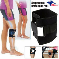 Acupressure Brace Point Pad Leg for Back Pain Sciatic Nerve Knee Support Black
