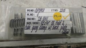 """(25 ea) 1/2"""" X 2 Hold Line Gang Tubing Clamps Stainless"""