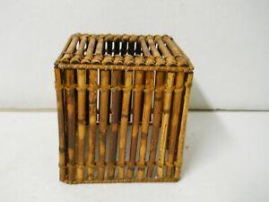 Bamboo Wood Kleenex Facial Tissue Holder Box Cover Bathroom Tropical Home Decor