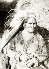 Retrato Indio Nativo Americano apache Gerónimo B&W Photo Foto Impresión de Arte