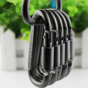 10 x Aluminum Screw Locking Carabiner Hook Key Chain For Bags Tents Rope Outdoor