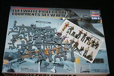 Preiser Hasegawa Pilots Ground Crew & equipment 1:48 scale model kits incomplete