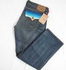 True Religion Ricky Baja Straight Mens Jeans 40W 34L Style MN2R67T85  Pockets