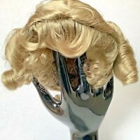 Hand Styled Doll Wig Global Dolls Playtime 14-15 Blonde Ponytails Ribbons NOS