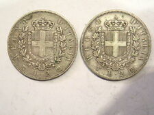coppia di 2 monete da 2 lire 1863 napoli e torino