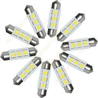 5~100PCS White 36MM 3 LED 5050 SMD Festoon Dome Car Light Interior Lamp Bulb 12V
