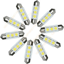 5PCS  White 36MM 3 LED 5050 SMD Festoon Dome Car Light Interior Lamp Bulb 12V