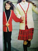 VINTAGE LADYS & GIRLS SHORT COATS CROCHET PATTERN magazine pull-out