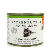 (1,20/100g) Defu Katzen Paté Katzenfutter mit Huhn Sensitiv bio 200 g Dose