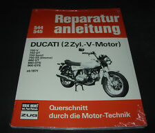 Reparaturanleitung Ducati 750 GT Sport Desmo 860 GTS 900 Königswelle 2 Zylinder!
